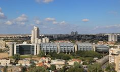 BEER SHEBA, ISRAEL - NOVEMBER 28, 2014: Aerial view of Beer Sheba with modern building of Sami Shamoon College of Engineering