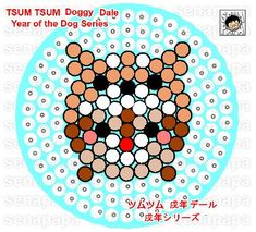 perler template tsum tsum, year of the dog, Dale