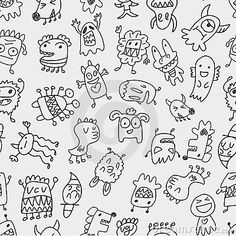 Monster Patterns Free | Seamless Monster Pattern Royalty Free Stock Photo - Image: 22045765