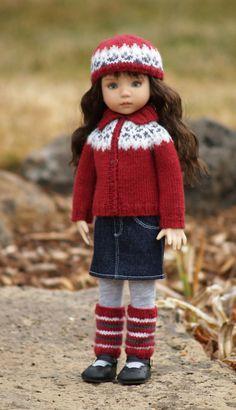 "Versatile & Variegated-LD--PDF Knitting Pattern for Dianna Effner's 13"" Little Darling Studio dolls"