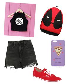 """5 Seconds of Summer Concert"" by louisloves-strippes ❤ liked on Polyvore featuring Alexander Wang, Marvel Comics, Vans, ASOS and 5sos"