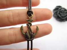Anchor Braceletantique bronze unique little by lightenme on Etsy, $2.99