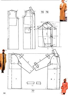 modelação Black Things yamaha fz s black color Coat Pattern Sewing, Sewing Coat, Easy Sewing Patterns, Coat Patterns, Pattern Drafting, Sewing Clothes, Clothing Patterns, Diy Clothes, Dress Patterns