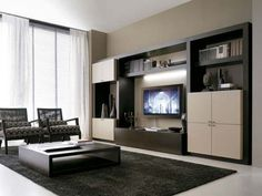 Incorporate open storage for books, statues and photos alongside closed storage for DVDs and manuals.