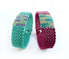 makrame bracelets! Good color - nice design.