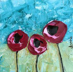 "ORIGINAL   ""Poppy #4""   Donna Downey Studios Inc"