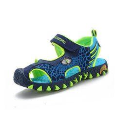 2017 children summer shoes 3D dinosaurs fashion boys sandals cut out non-slip boys beach shoes for kids boy - 10 MINUS