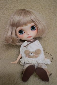 Mumu * Custom Bythe (USED)  Buy her here:   #blythe #blythedolls #kawaii #cute #rinkya #japan #collectibles #neoblythe #customblythe