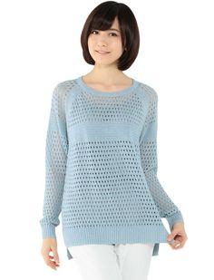 Amazon.co.jp: (エーシーデザインバイアルファキュービック)A/C DESIGN BY ALPHA CUBIC 麻混メッシュニットプルオーバー: 服&ファッション小物 (via http://www.amazon.co.jp/gp/product/B00IY4H65G/ref=pe_63612_165200542_pe_epc__1p_6_im )