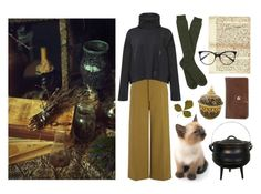 """""""An evening writing about potions"""" by mozart-and-coffee ❤ liked on Polyvore featuring Joseph, Yohji Yamamoto, NOVICA, Victoria Beckham, HOBO and vintage"""