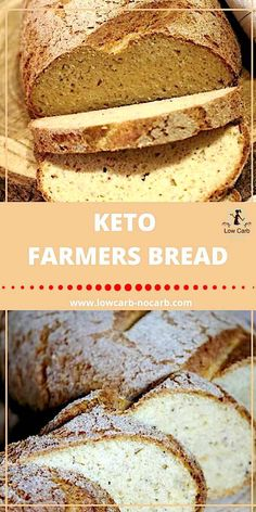 Low Carb Meals Keto Farmers Bread is the best alternative to Rustic Keto Bread - Have you been craving for real rustic bread in our lifestyle? This Keto Farmers Bread is just the answer you were looking for. Real look, smell, taste, but still keto. Best Keto Bread, Low Carb Bread, Low Carb Diet, Desserts Keto, Keto Snacks, Keto Foods, Foods To Eat, Low Carb Recipes, Bread Recipes