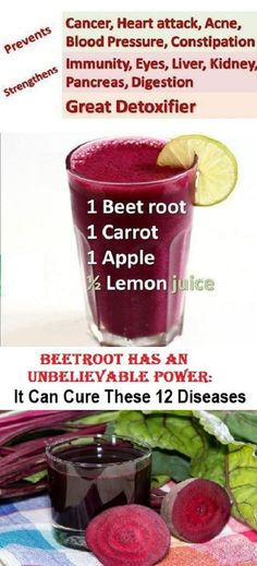 Since ancient times, Greeks and Romans have been using beetroot in the treatment of numerous health conditions, such as the high body temperature. The main reason why beetroot is an excellent natural remedy is. Detoxify Information on our Site Healthy Detox, Healthy Juices, Healthy Smoothies, Healthy Drinks, Healthy Tips, Easy Detox, Healthy Weight, Healthy Foods, Sumo Natural