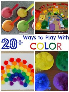 Ways to play with color! More than 20 ideas to play and learn with!