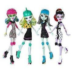 Monster High Roller Maze Set of 4: Operetta, Ghoulia, Frankie, & Lagoona by Mattel. $72.00. 4 dolls. monster high roller maze