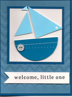 Baby shower card #2 boats