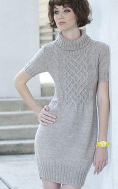Novita cabled dress pattern in finnish