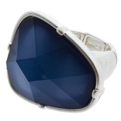 Blue/Silver Stretch Ring No Fees, Free Shipping $13.00