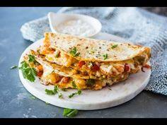 Black Bean and Corn Cajun Shrimp Quesadillas - YouTube