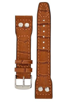 IWC Aviation Gator Leather Watch Strap - GOLD BROWN – WatchObsession £37.95