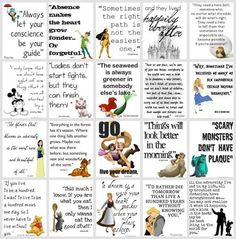 Disney Quotes........Have some of these in Disney's children's book.......memories!!