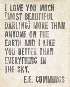 Ugh I love E.E Cummings