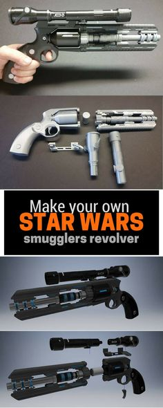 Wow a kit to make your own Star Wars smugglers revolver kit #starwars #smuggler #revolver #giftideas #commissionlink