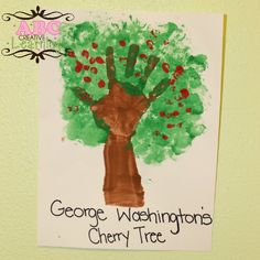 George Washington's Handprint Cherry Tree Craft