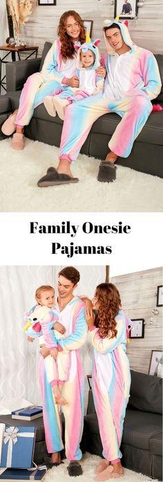 Rainbow Unicorn Animal Family Onesie Pajamas