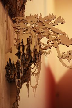 Jungle Wall Installation. Made from layered laser-cut Eco Poplar Plywood. by MIDUKAS