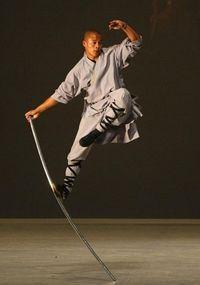 Shaolin monks perform martial arts in Singapore (chinadaily.com, 2009)                                                                                                                                                      Mais