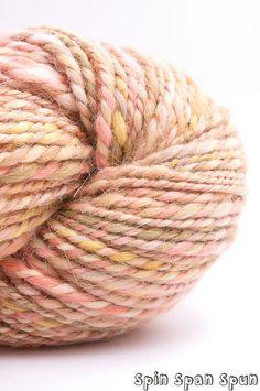 Tuscan Big Skein HandSpun Alpaca Yarn 175 yards 2 by SpinSpanSpun, $53.00