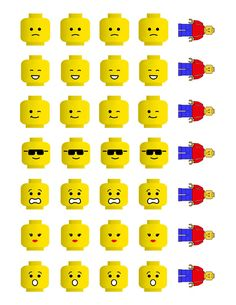 These Easter egg printables are perfect for your LEGO lover. Lego Party Games, Lego Themed Party, Lego Faces, Ninja Birthday Parties, Lego Head, Lego Club, Free Lego, Lego Design, Art Plastique