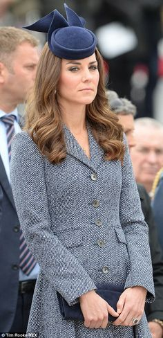 Act of remembrance: The Duke and Duchess of Cambridge attend the Australian War Memorial in Canberra on Anzac Day #katemiddleton