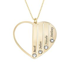 Mom Birthstone Necklace in Gold Family Necklace, Name Necklace, Pendant Necklace, Quartz Rose, Birthstone Necklace, Meaningful Gifts, Diamond Are A Girls Best Friend, Gold Beads, Rose Gold Plates