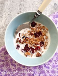 Easy, Homemade Gluten-Free Granola sweetened with pure maple syrup.