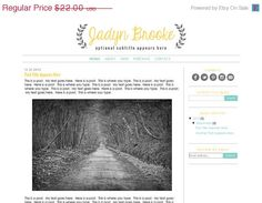 ON SALE Premade Blogger Template Theme Blog by KreatedByKelsey1