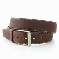 Columbia Sportswear Top-Stitched Leather Belt