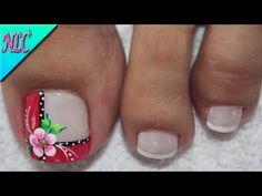 Feet Nails, My Nails, Feet Nail Design, French Nail Art, Pedicure, Nail Art Designs, Ale, Acting, Nail Arts