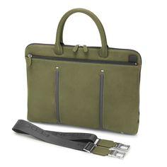 Attavanti - Giorgio Fedon Slim Laptop MacBook Bag - Green Grey, £235.00 (https://www.attavanti.com/luxury-italian-leather-briefcases/giorgio-fedon-slim-laptop-macbook-bag-green-grey/)