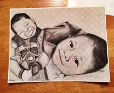 A portrait of my cousins new born. Gotta love the fall asleep in the car seat photos