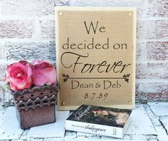 We decided on Forever sign personalized names & by MelodyPrints
