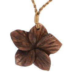 Designer Clothes, Shoes & Bags for Women Hawaiian Fashion, Wooden Necklace, Pendant Necklace, Hawaiian Jewelry, Flower Pendant, Jewelery, Jewelry Necklaces, Carving, Christmas Ornaments