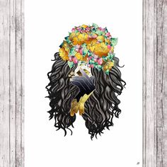 Excited to share the latest addition to my #etsy shop: Flower girl digital art print http://etsy.me/2nFdSS8 #art #drawing #digital #flower #flowercrown #digitalartprint #print #instantdownload #walldecor