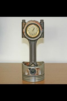 Desk clock for a gear-head!  That's cool.