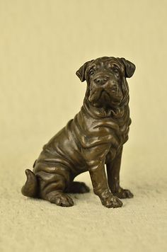 Noble English Bulldog Bronze Sculpture Animal Pet Dog Garden Statue Decor Sale