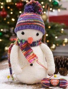 Snowman knitting pattern free