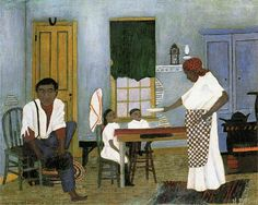 Horace Pippin Paintings | Horace Pippin, Sunday Morning Breakfast , 1943.