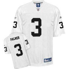 Reebok Oakland Raiders Carson Palmer 3 White Authentic Jerseys Sale