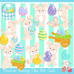 Easter1 Clip Art Set perfect for all kinds of creative projects!  All designs are digital sales. No items will be shipped!  You will receive :