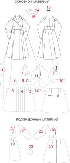 Эксклюзивное пальто оригами. Детали кроя.